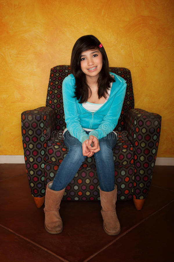 Menina bonita de Latina foto de stock