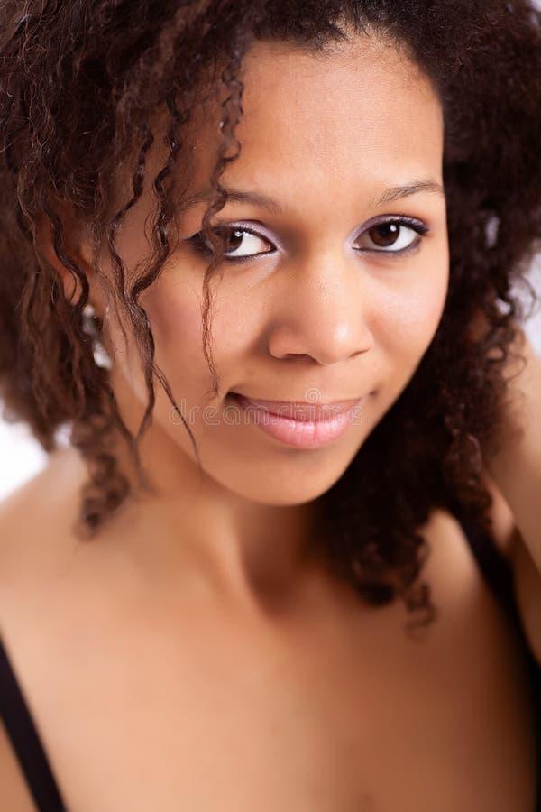 Menina bonita do African-American foto de stock royalty free