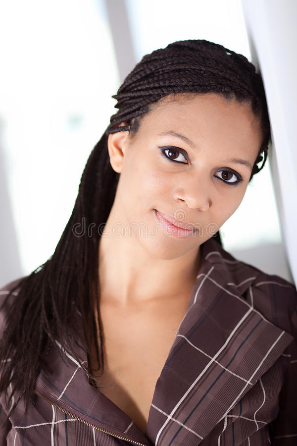 Menina bonita do African-American fotos de stock