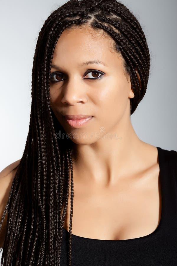 Menina bonita do African-American fotos de stock royalty free