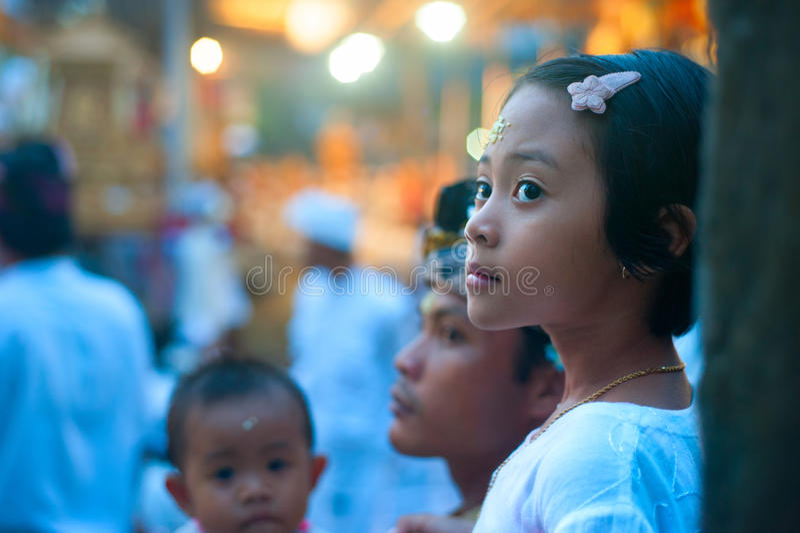 Menina bonita do Balinese foto de stock