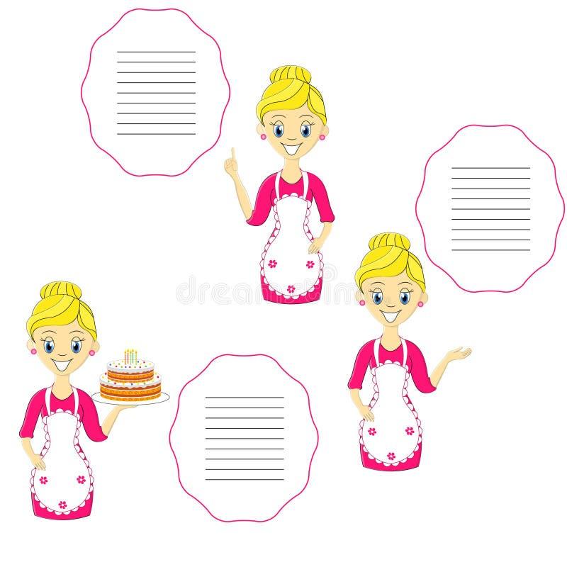 Menina bonita do blondie, exibição da jovem mulher ilustração do vetor