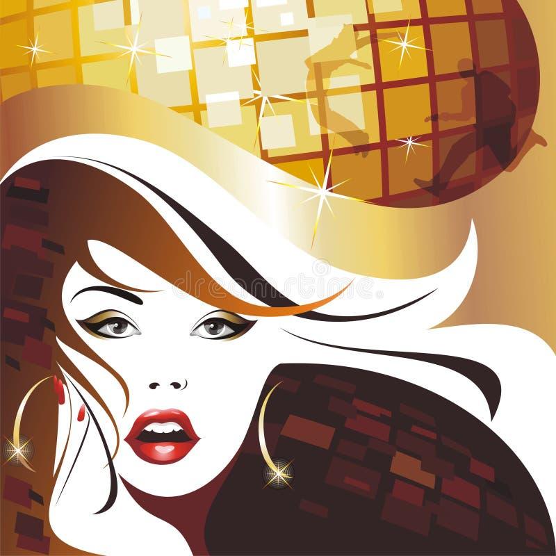 Menina bonita do disco. ilustração royalty free