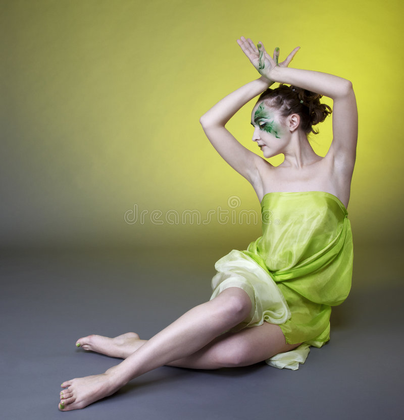 Menina bonita do duende imagens de stock royalty free