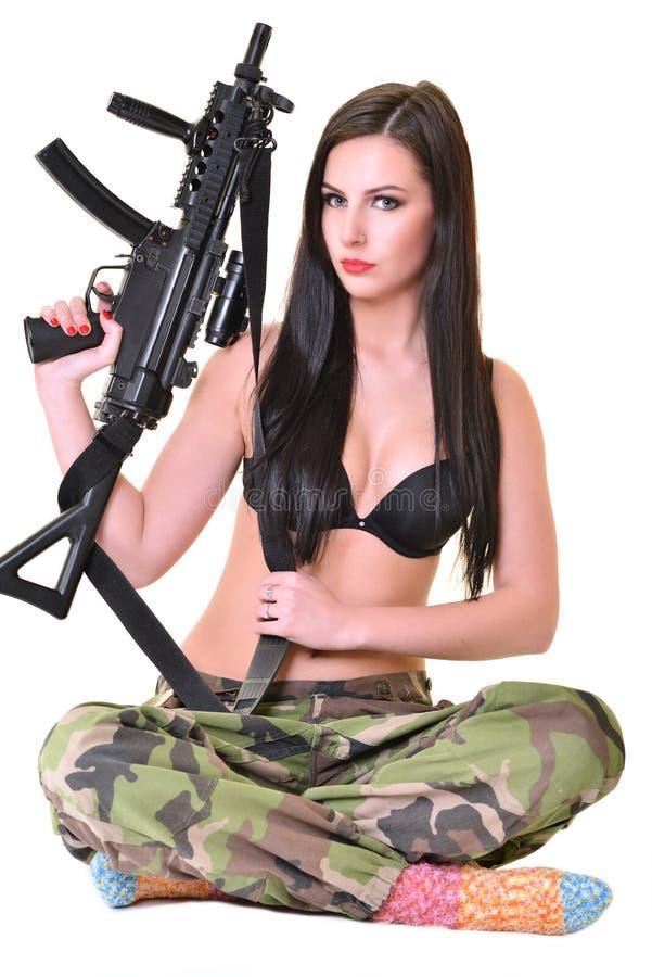 Menina bonita do exército imagem de stock royalty free