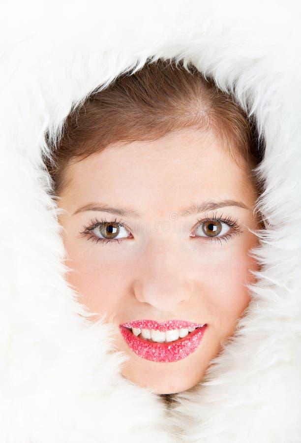 Menina bonita do inverno foto de stock