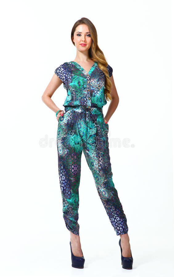 Menina bonita do modelo de forma da mulher de negócio no verão total imagens de stock royalty free