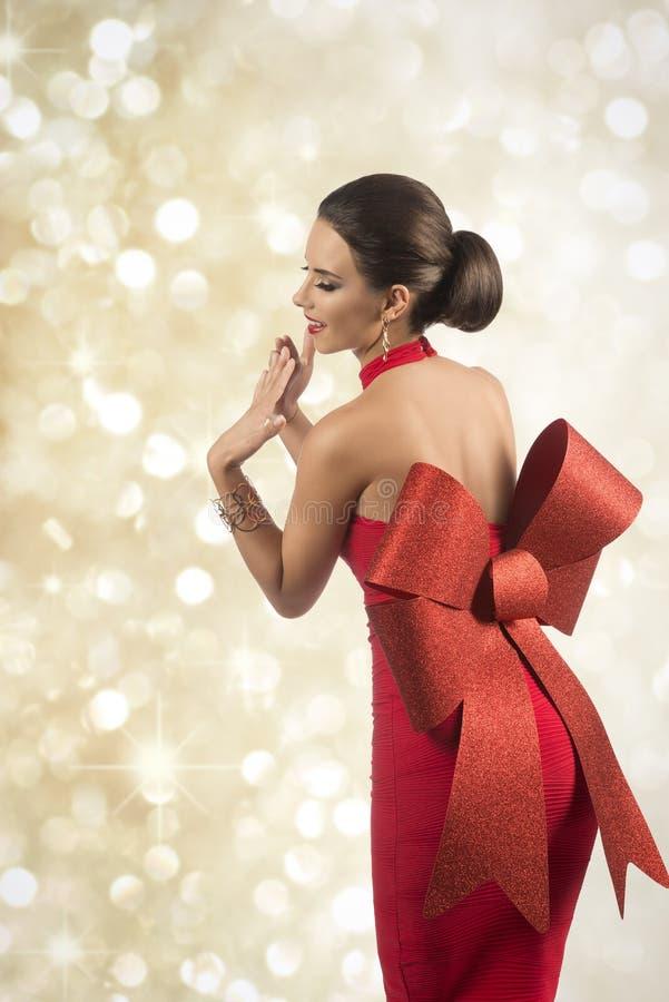 Menina bonita do pino-acima do Natal imagens de stock royalty free