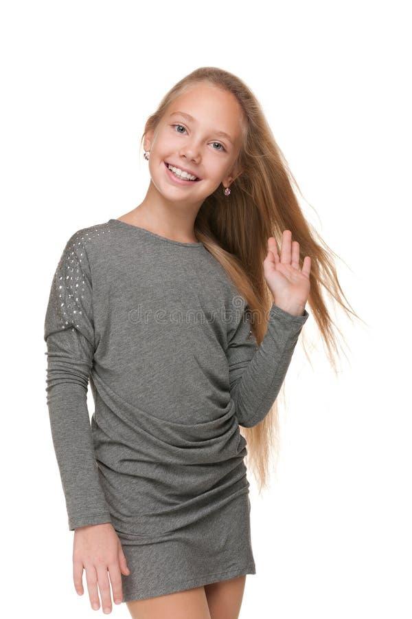 Menina bonita do preteen foto de stock royalty free