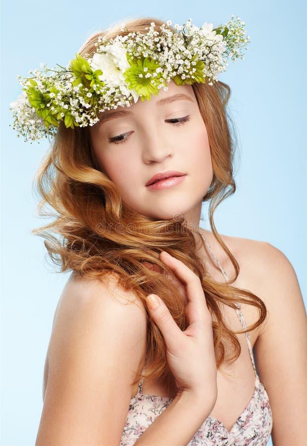 Menina bonita do redhead foto de stock royalty free