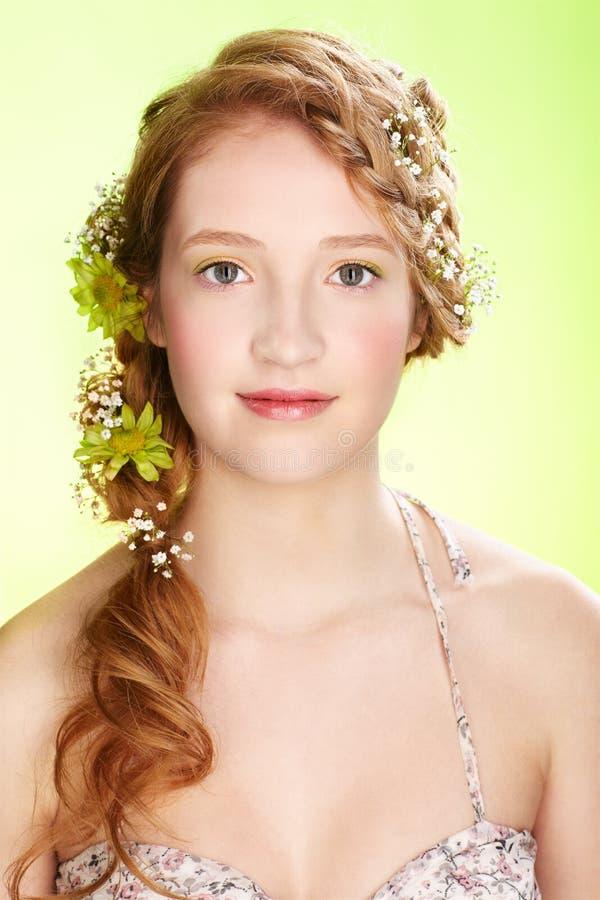 Menina bonita do redhead fotos de stock