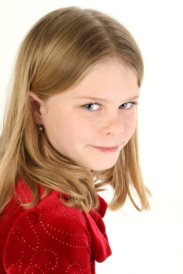 Menina bonita dos anos de idade dez imagens de stock royalty free
