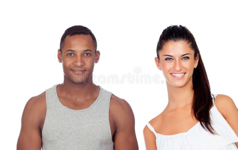 Menina bonita e indivíduo considerável fotos de stock