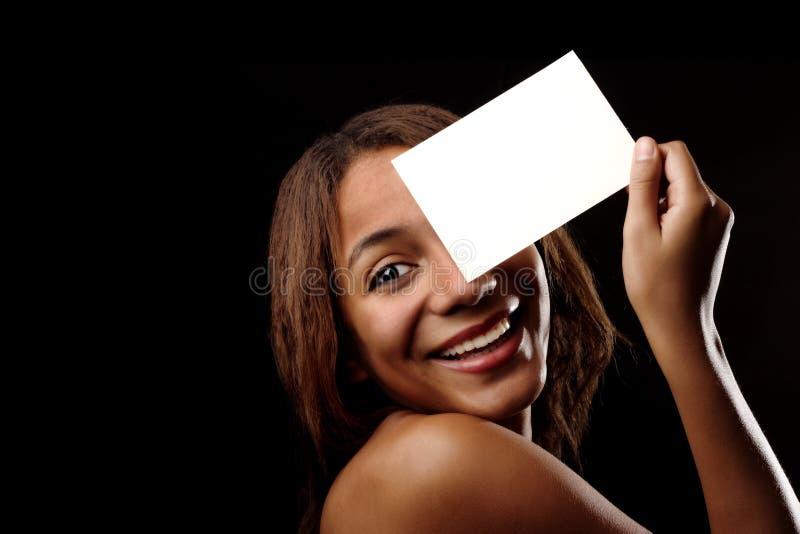 Menina bonita feliz africana fotos de stock