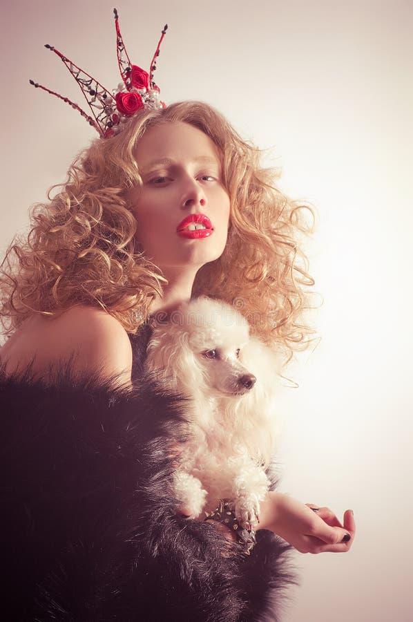 Download Menina bonita na coroa. imagem de stock. Imagem de fairy - 29847195