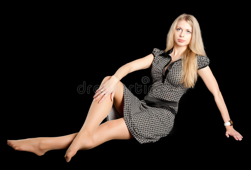 Menina bonita no assoalho imagens de stock royalty free