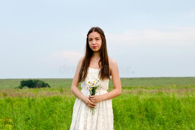 Menina bonita nova no vestido imagem de stock royalty free