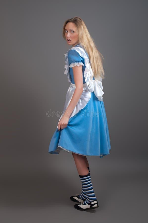 Menina bonita nova no vestido do fairy-tale imagem de stock royalty free