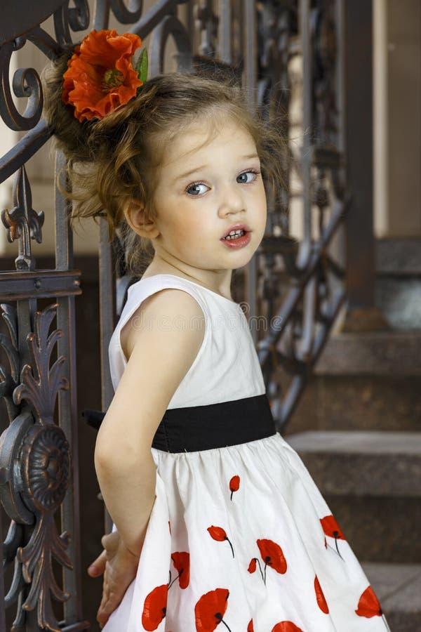 Menina bonita pequena imagens de stock