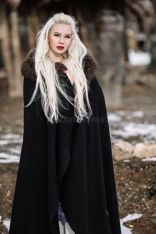 Menina bonita viquingue imagem de stock