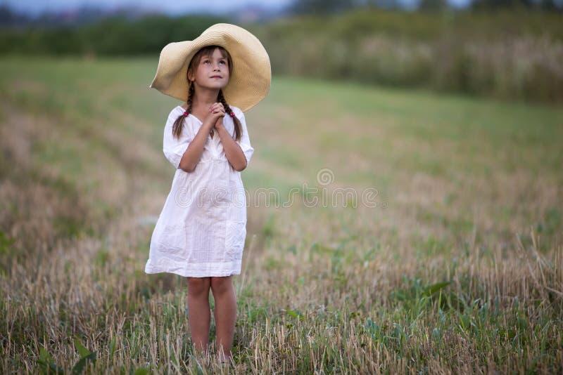 Menina bonito bonita elegante nova com as tranças longas no whit agradável imagens de stock
