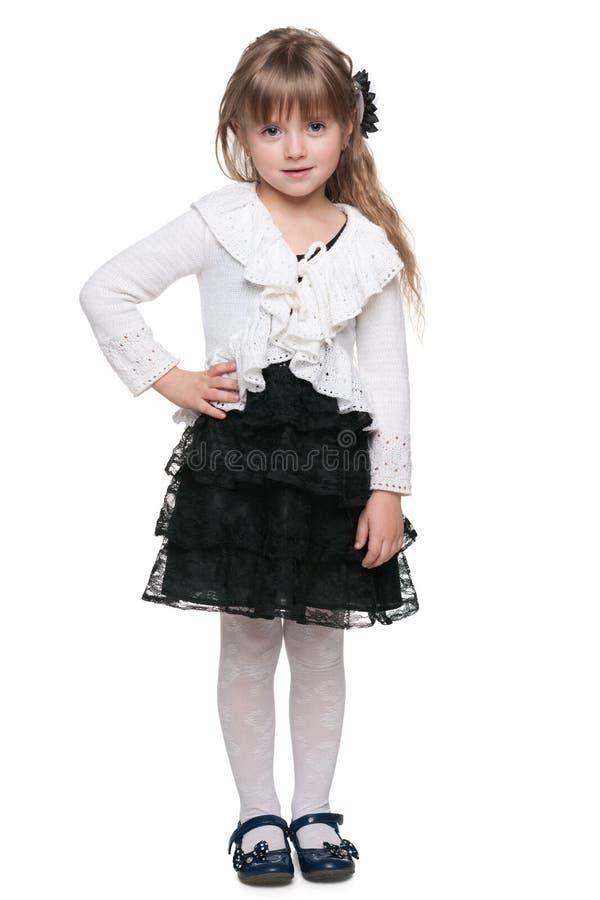 Menina bonito contra o branco imagens de stock