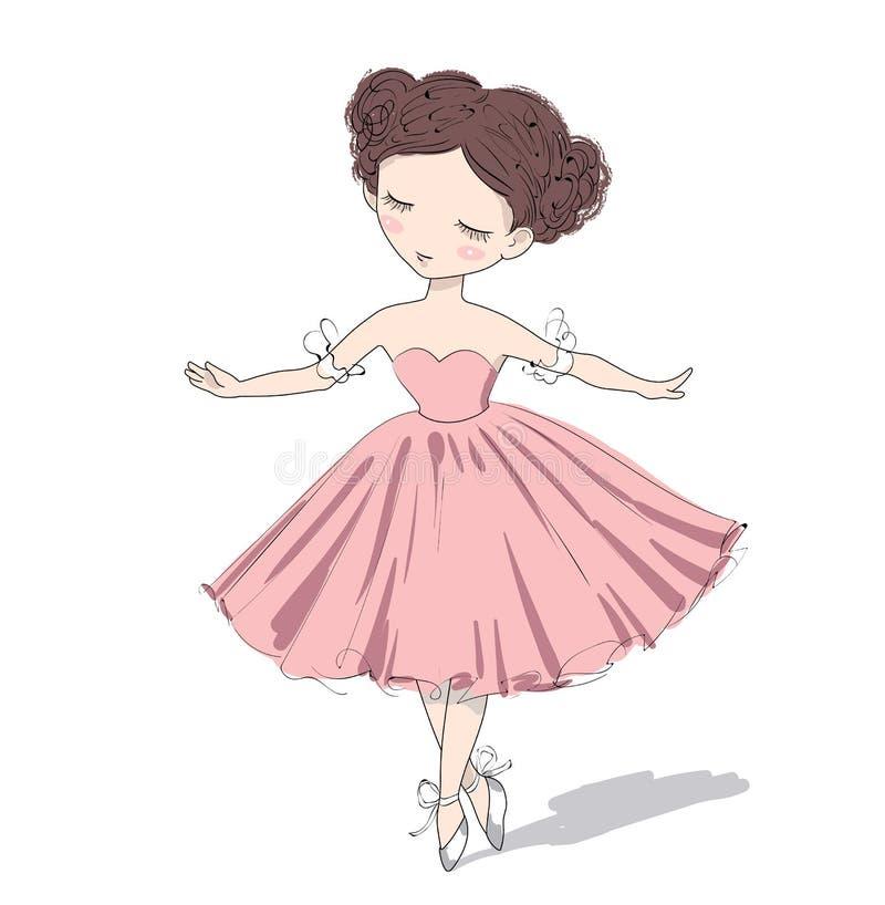 Menina bonito da bailarina Ilustração do vetor ilustração do vetor