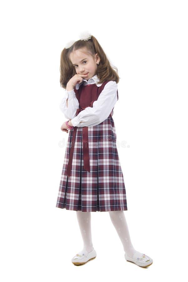 Download Menina Bonito De Pensamento Imagem de Stock - Imagem de somente, roupa: 10062859