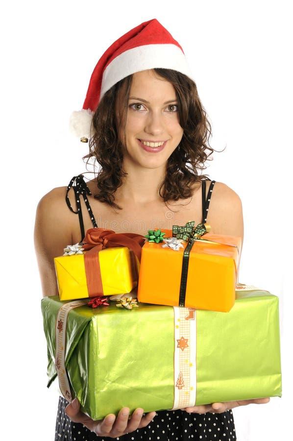 Download Menina bonito de Santa imagem de stock. Imagem de bonito - 16874657