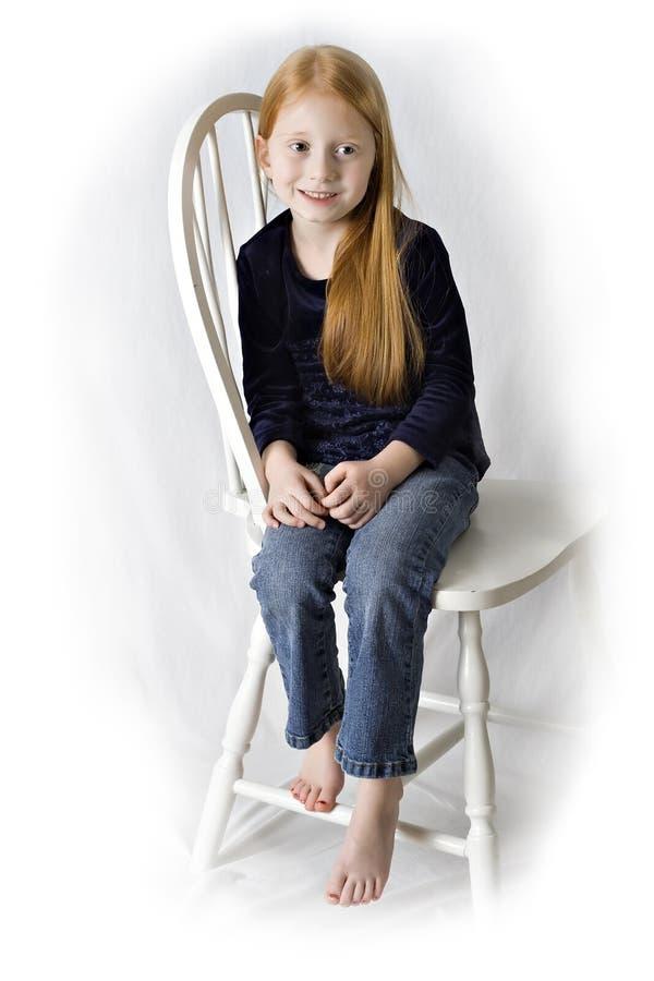 Menina bonito do Redhead fotografia de stock royalty free