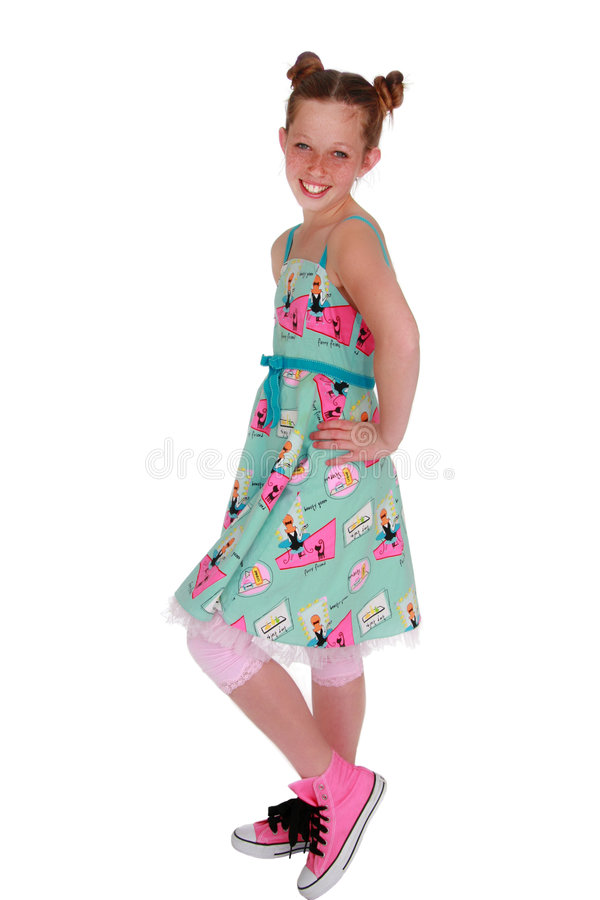 Menina bonito do Tween fotografia de stock royalty free