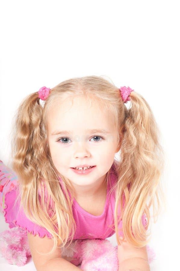 Menina bonito pequena no estúdio imagem de stock royalty free