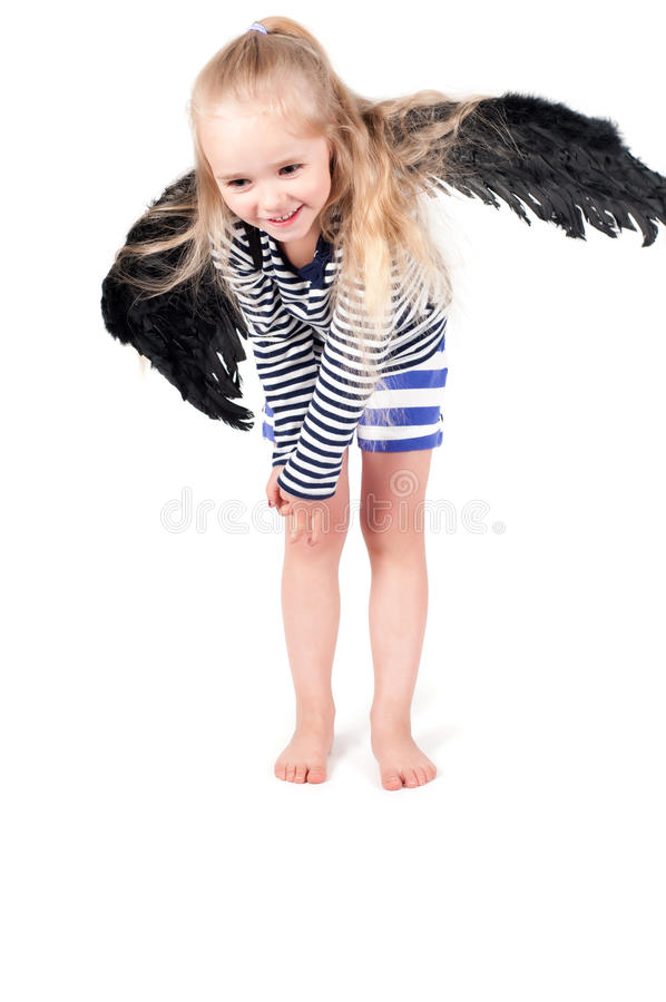 Menina bonito pequena no estúdio imagem de stock