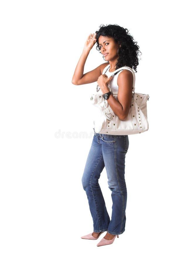 Menina brasileira elegante foto de stock royalty free