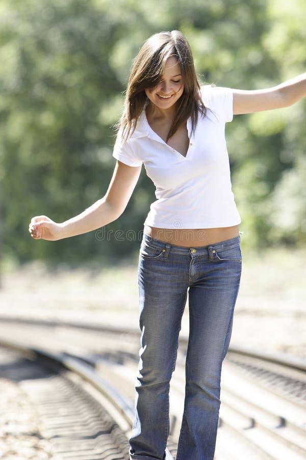 Menina brilhante feliz fotos de stock royalty free