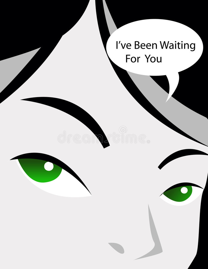 Menina cómica de fala ilustração royalty free