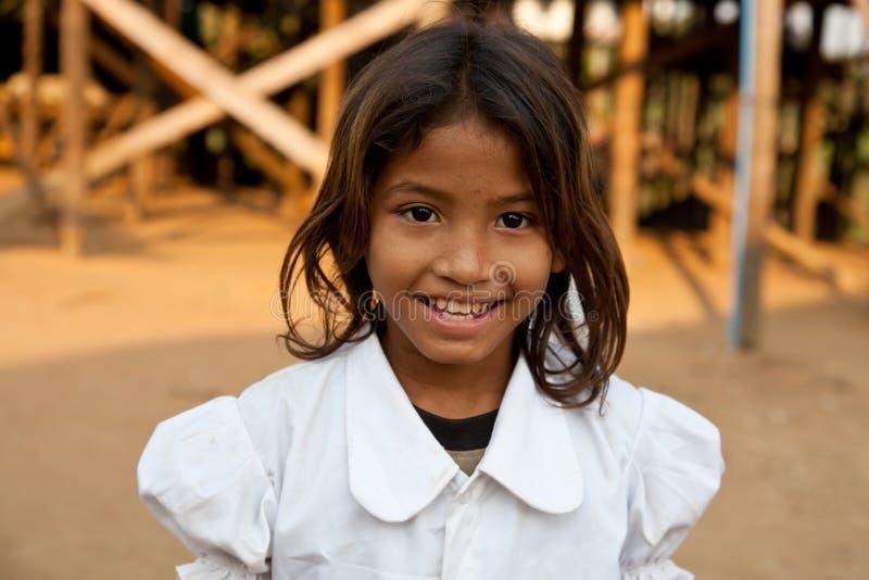 Menina cambojana foto de stock