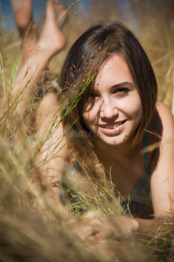 Menina caucasiano bonita foto de stock