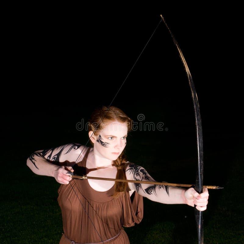 Menina celta do guerreiro fotos de stock