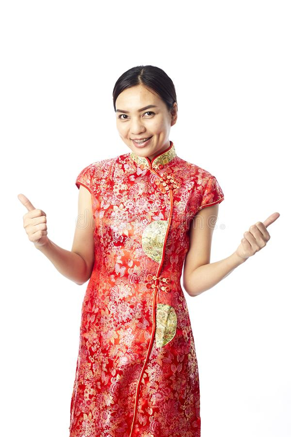 Menina chinesa do asiático do ano novo fotografia de stock royalty free