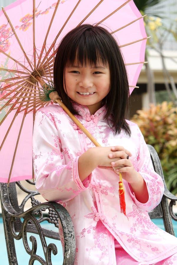 Menina chinesa feliz fotos de stock