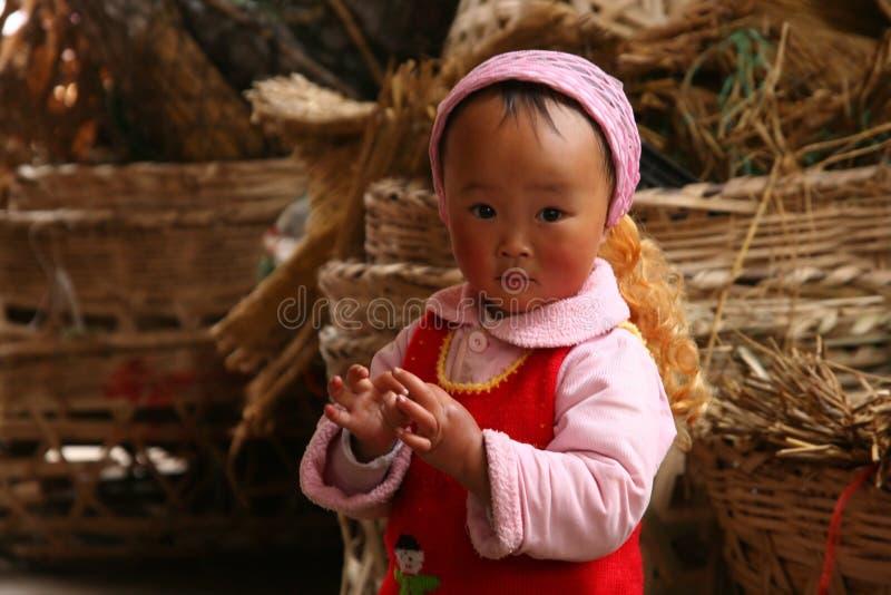 Menina chinesa pequena fotos de stock royalty free