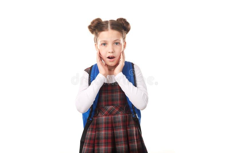 Menina chocada da escola fotos de stock
