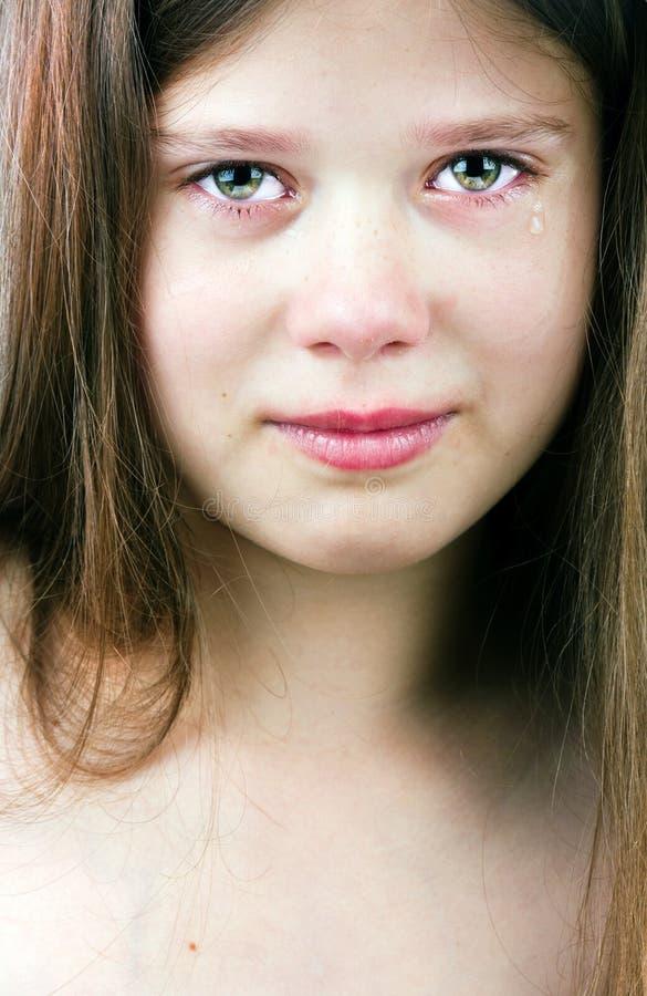 Menina choroso fotos de stock