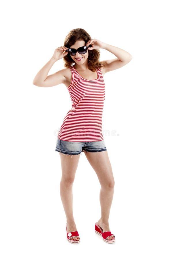 Download Menina com óculos de sol imagem de stock. Imagem de ocasional - 16872897
