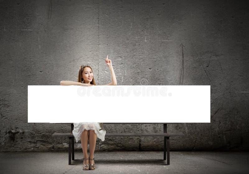 Menina com bandeira imagens de stock royalty free