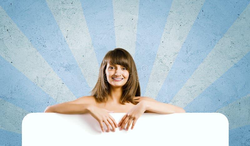 Menina com bandeira fotos de stock royalty free