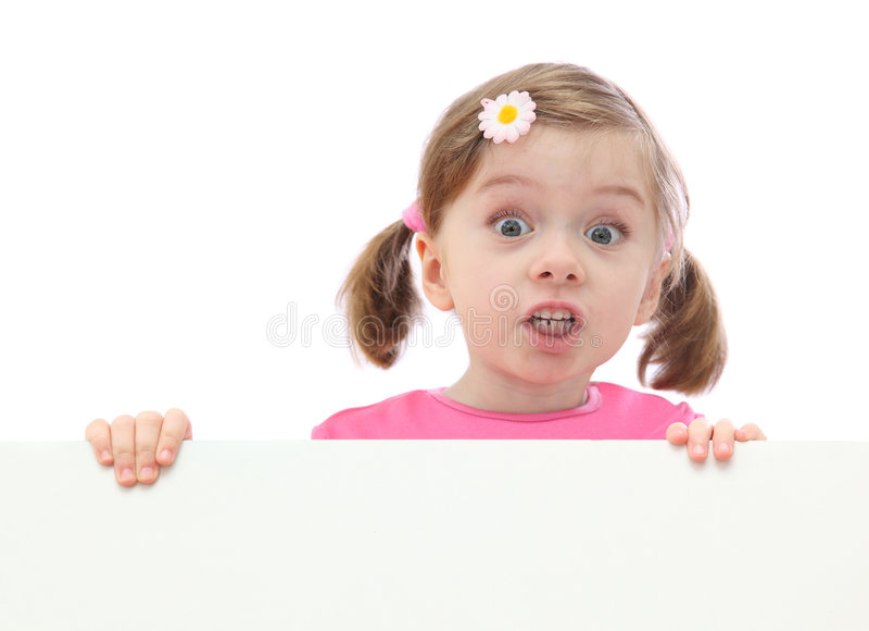Menina com bandeira fotos de stock