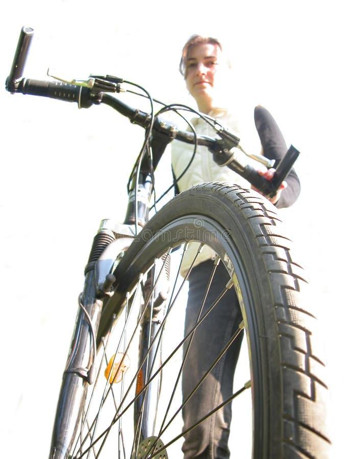 Download Menina com bicicleta foto de stock. Imagem de atividade - 109928