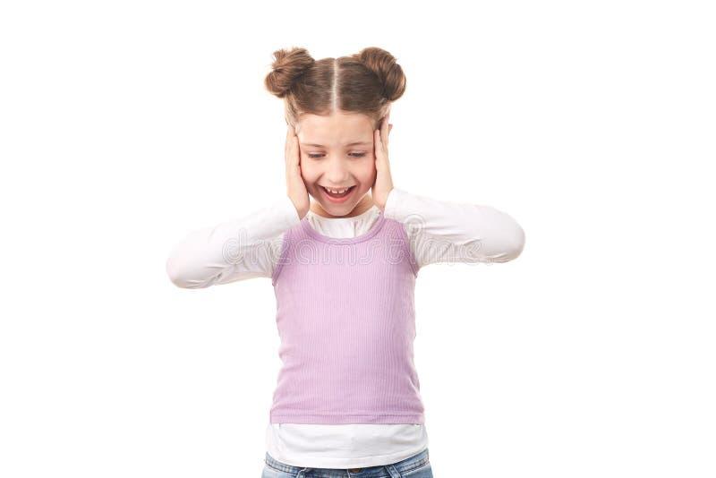 Menina com bolos do cabelo foto de stock